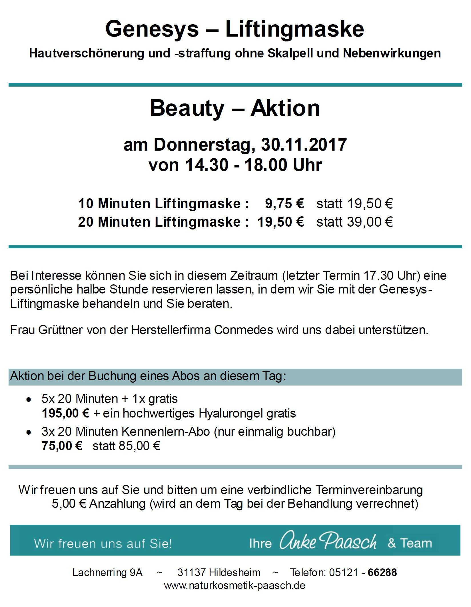 Angebote - Naturkosmetik-Praxis Anke Paasch